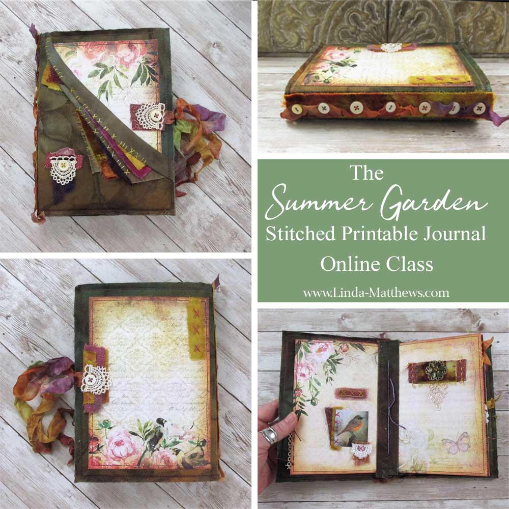 The Summer Garden Stitched Printable Journal Online Workshop
