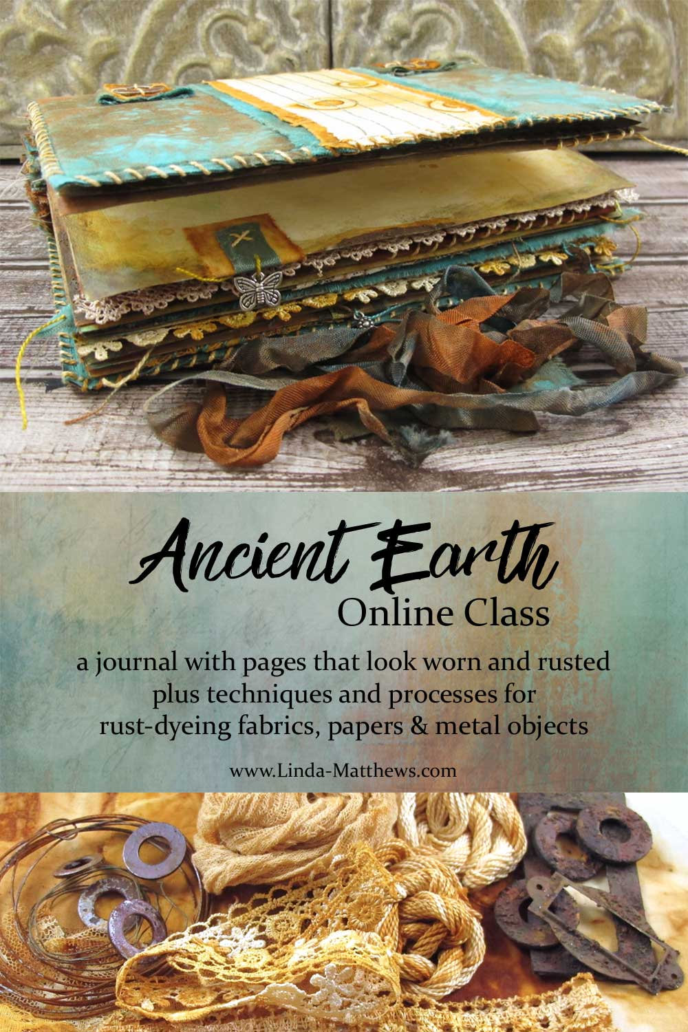 Ancient Earth Journal + a Rust Dyeing Online Workshop